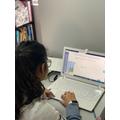 Saara completing her tasks on Mthletics