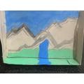 Aisha created a fantastic piece of mountain art!
