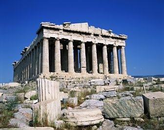 The Parthenon temple was built for goddess Athena.