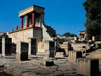 This is the Great Palace of Knossos on Crete
