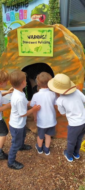 Sssh! Dino eggs are hatching!