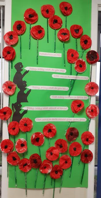 Early Years made poppies