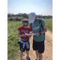 Map reading on a hot walk