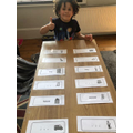 Matching the rhyming words.