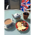 Celebrating VE Day - Miss Peats had afternoon tea
