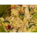 A salad looking tasty.