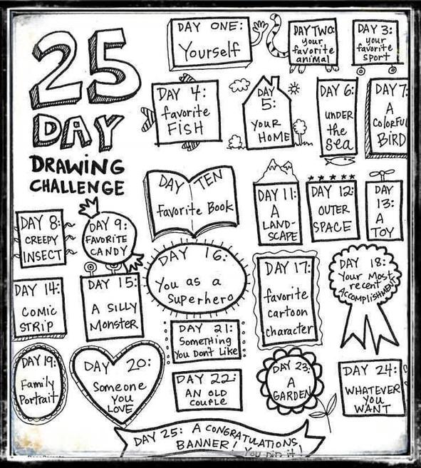 The 25 day drawing challenge