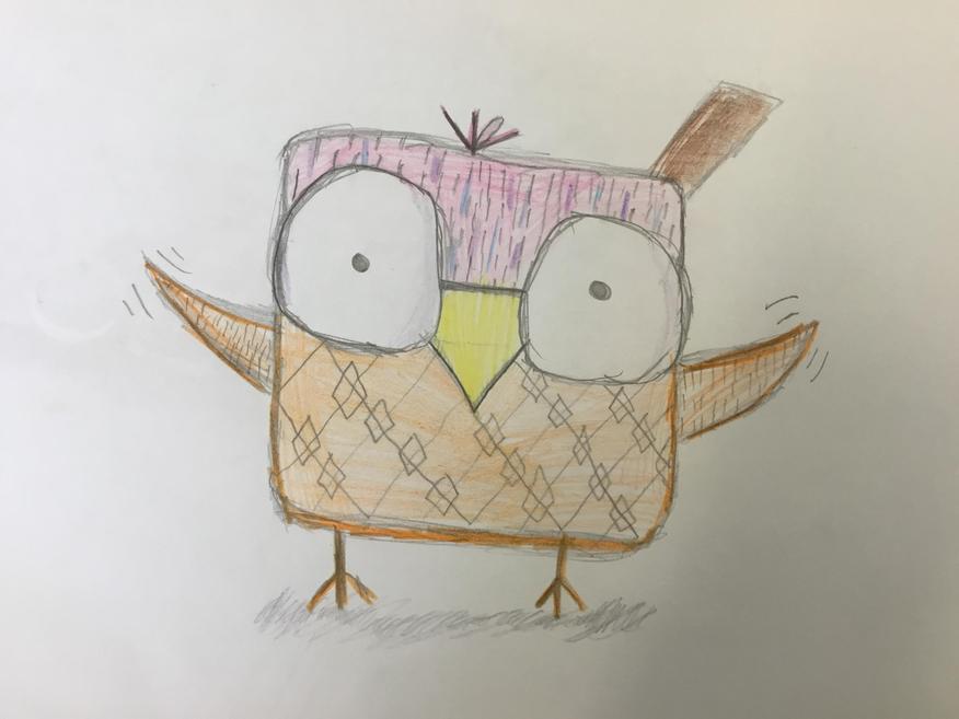 An owl in a jumper