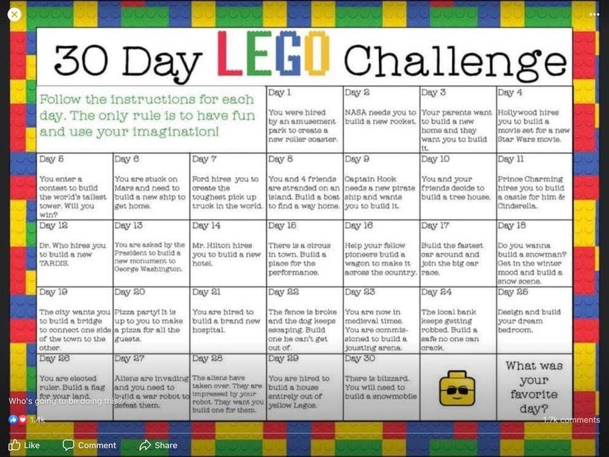 The 30 day Lego challenge