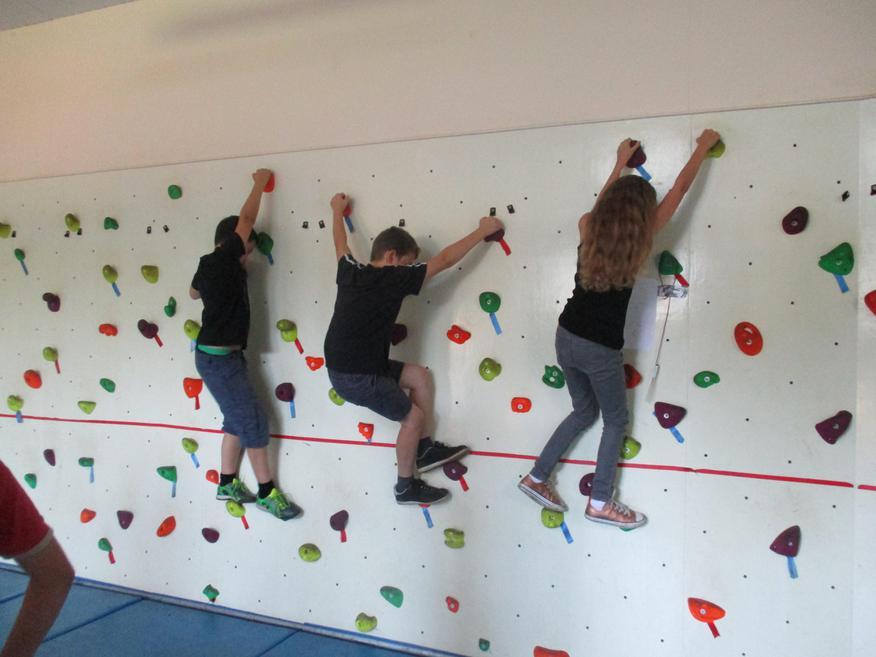 Climbing wall action