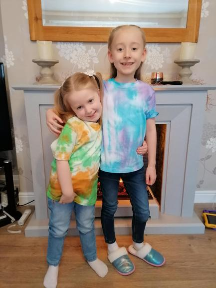 here is Emily with her sister.