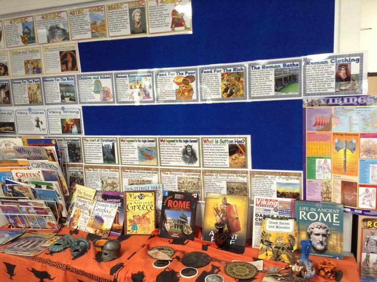 Year 5 Ancient Greece display