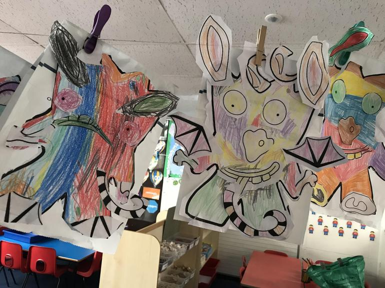 Bedtime for Monsters based work by Lilac class