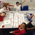 Y6 completing Maths Challenge