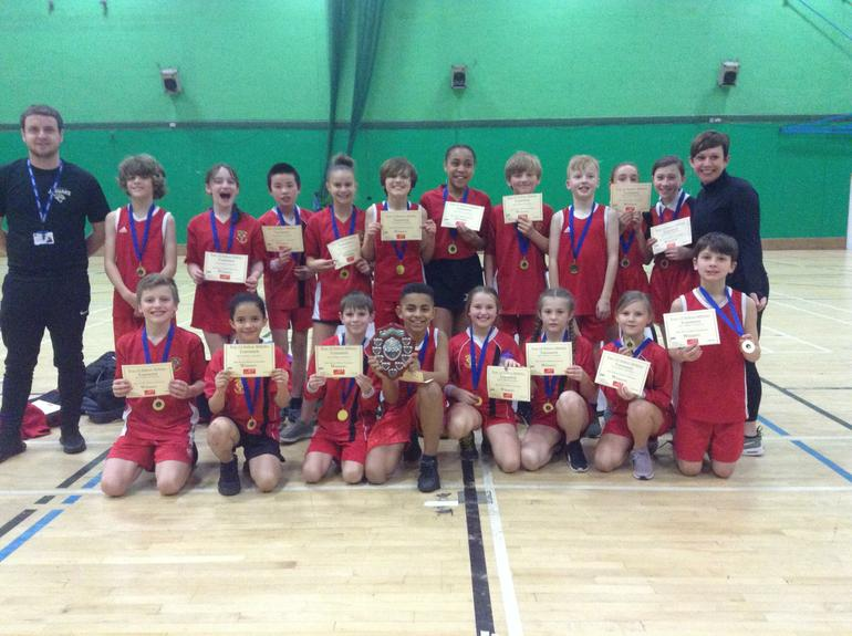 Year 5/6 Indoor athletics team- winners!