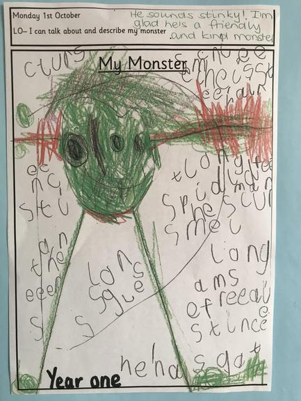 Bedtime for Monsters based work Lilac class