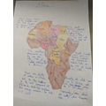 Evie's map of Africa
