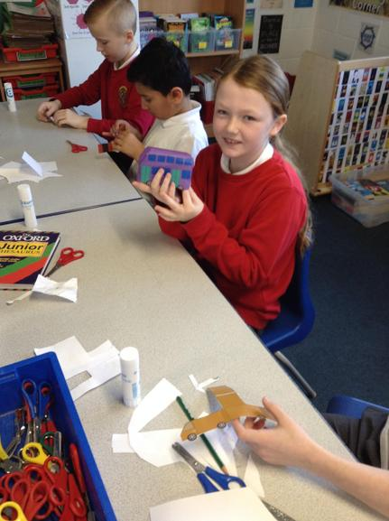 Different shapes used to construct a vehicle.