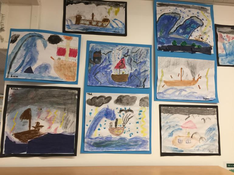 Year 5 work based on The Adventures of Odysseus