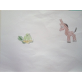 A turtle and a donkey by Alex