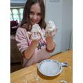 Evie making gloop