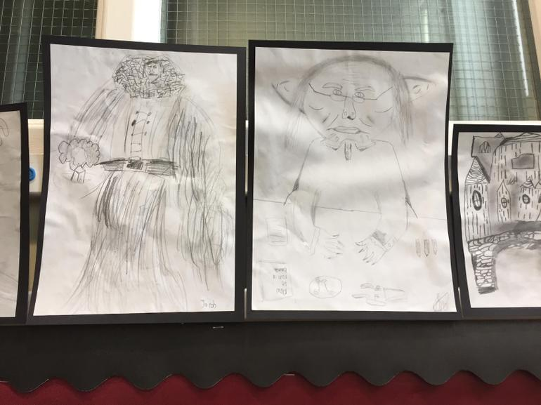 Year 6 Harry Potter drawings