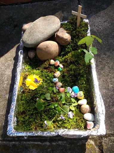 Sophia's Easter Garden.