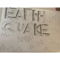 Earthquake art by Sophia