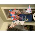 Home made VE Day bunting