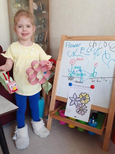 Chloe has been learning about plants!
