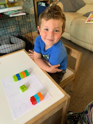 Counting with duplo blocks