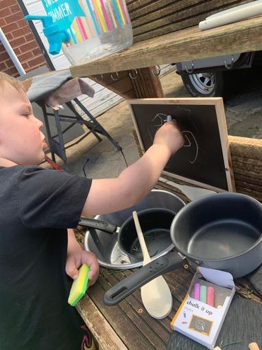 Mark making in my outdoor kitchen