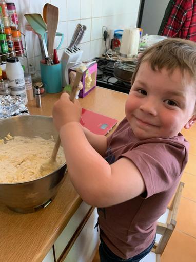 Jensen's been doing lots of baking