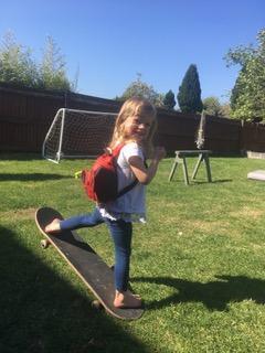 Bethany having fun in the garden