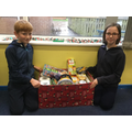 Donations from Year 5 for The Reverse advent calendar