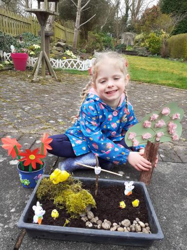 Chloe's Easter Garden