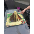 Mason's Easter project-A volcano erupting