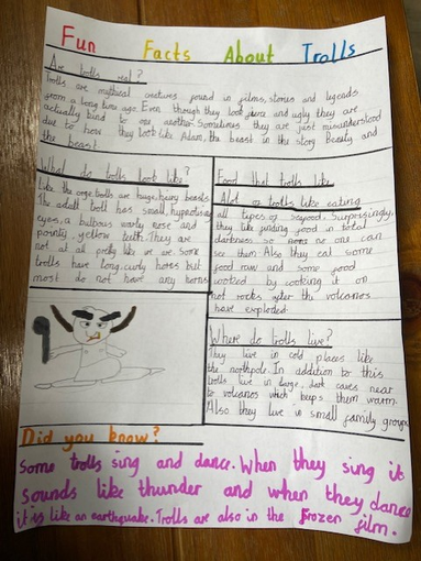 Isobel's super report on Trolls.