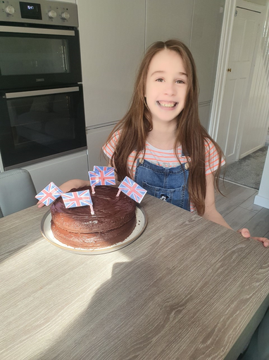 Emily's VE Day cake looks so delicious.