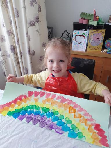 Look at the rainbow I made to raise smiles!