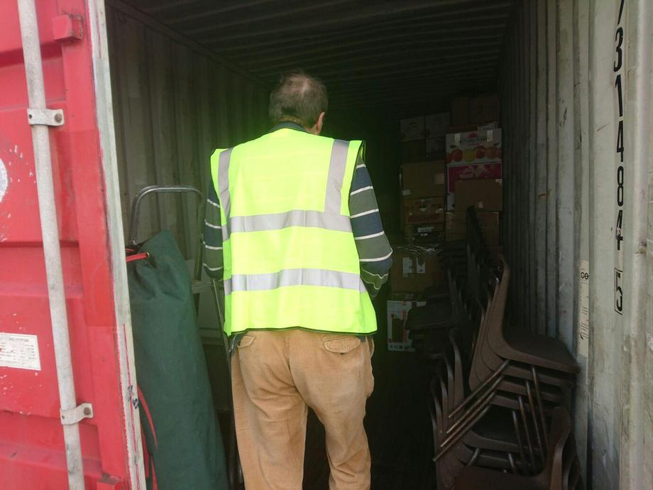 A huge container destined for Malawi.