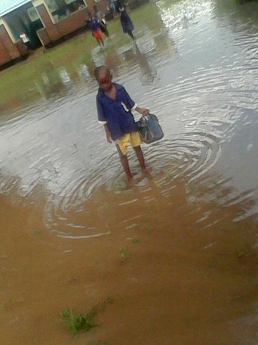 One of the learners on his way home