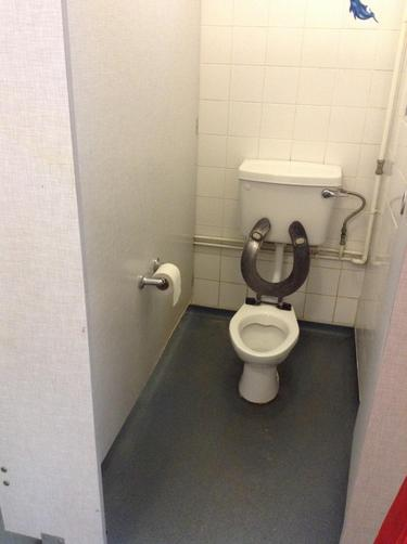 We go to the toilet.