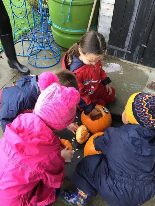Pumpkin senses tray