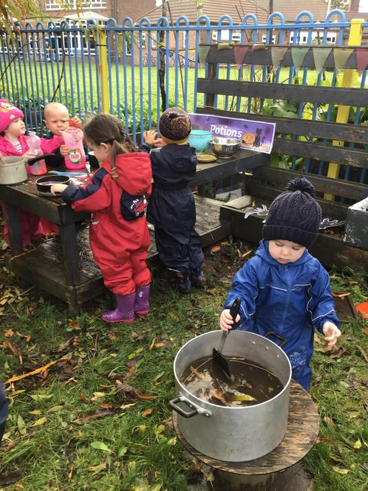 Making a witches brew