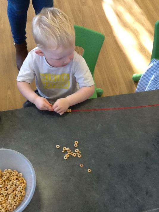 Making our own Rosary bead necklace