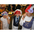 The children had lots of fun making masks.