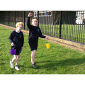 Year 5 sponsored walk carrying buckets of water