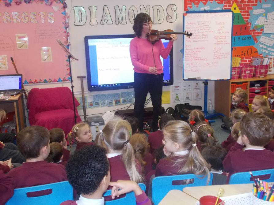 Mrs Bevan playing Spring concerto for us.