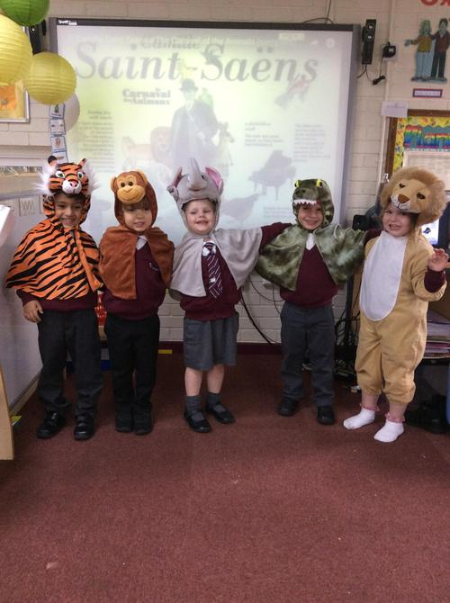 We moved like the animals whilst dressed up.